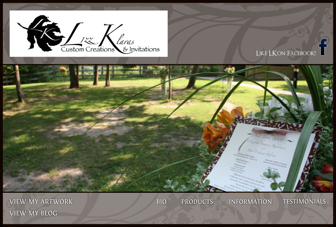 Lizz Robertson Klaras Custom Creations & Invitations Home Page