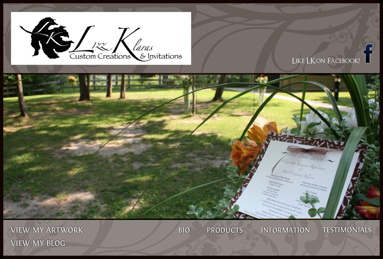 Lizz Robertson Klaras Custom Creations & Invitations Home Page