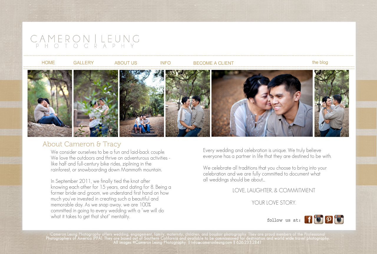International Wedding Photographer - Cameron & Tracy Leung | Los Angeles, New York, San Francisco, Hawaii, Mexico, Worldwide - About C and T