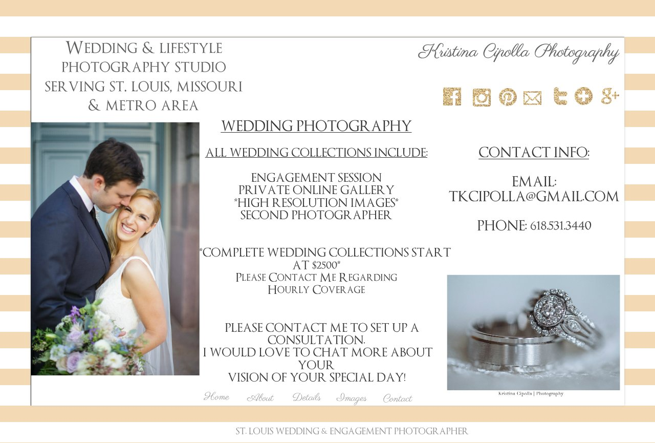 St  Louis Wedding Photographer - St  Louis Wedding Photography Pricing