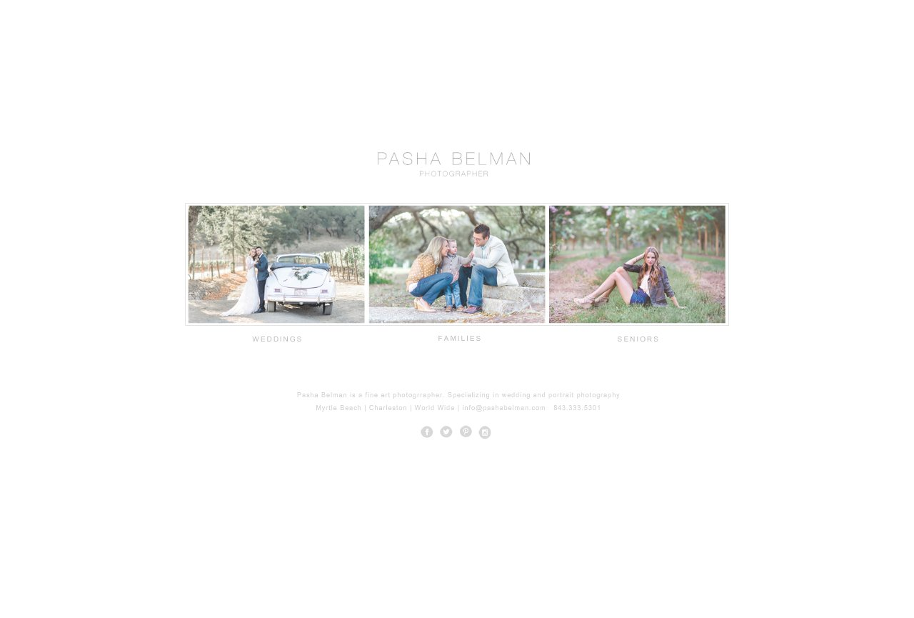 Pasha Belman | Myrtle Beach Photographers | Wedding / Family / High School Senior Portraits