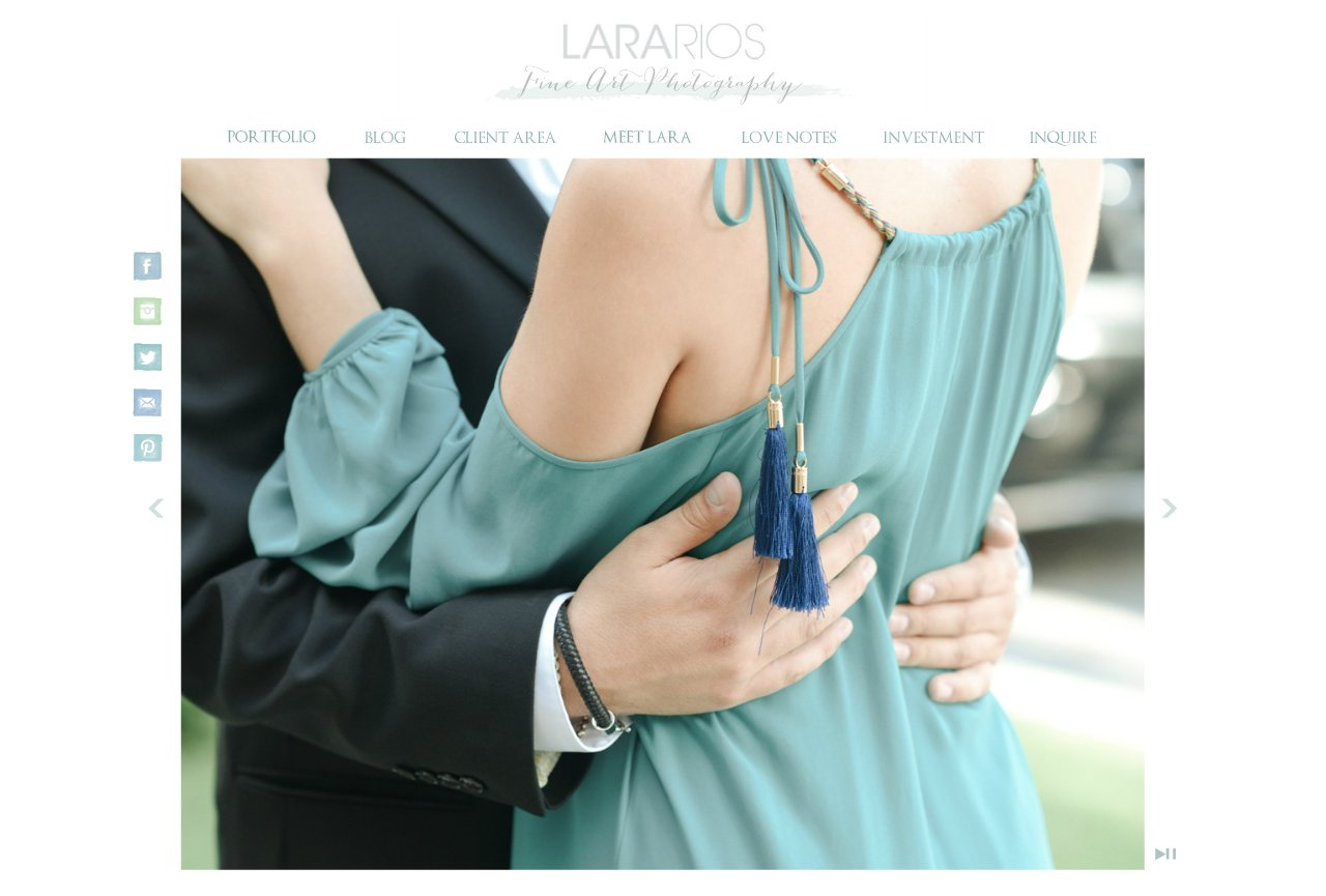 The Homepage of Lara Rios Glamorous Wedding Photography