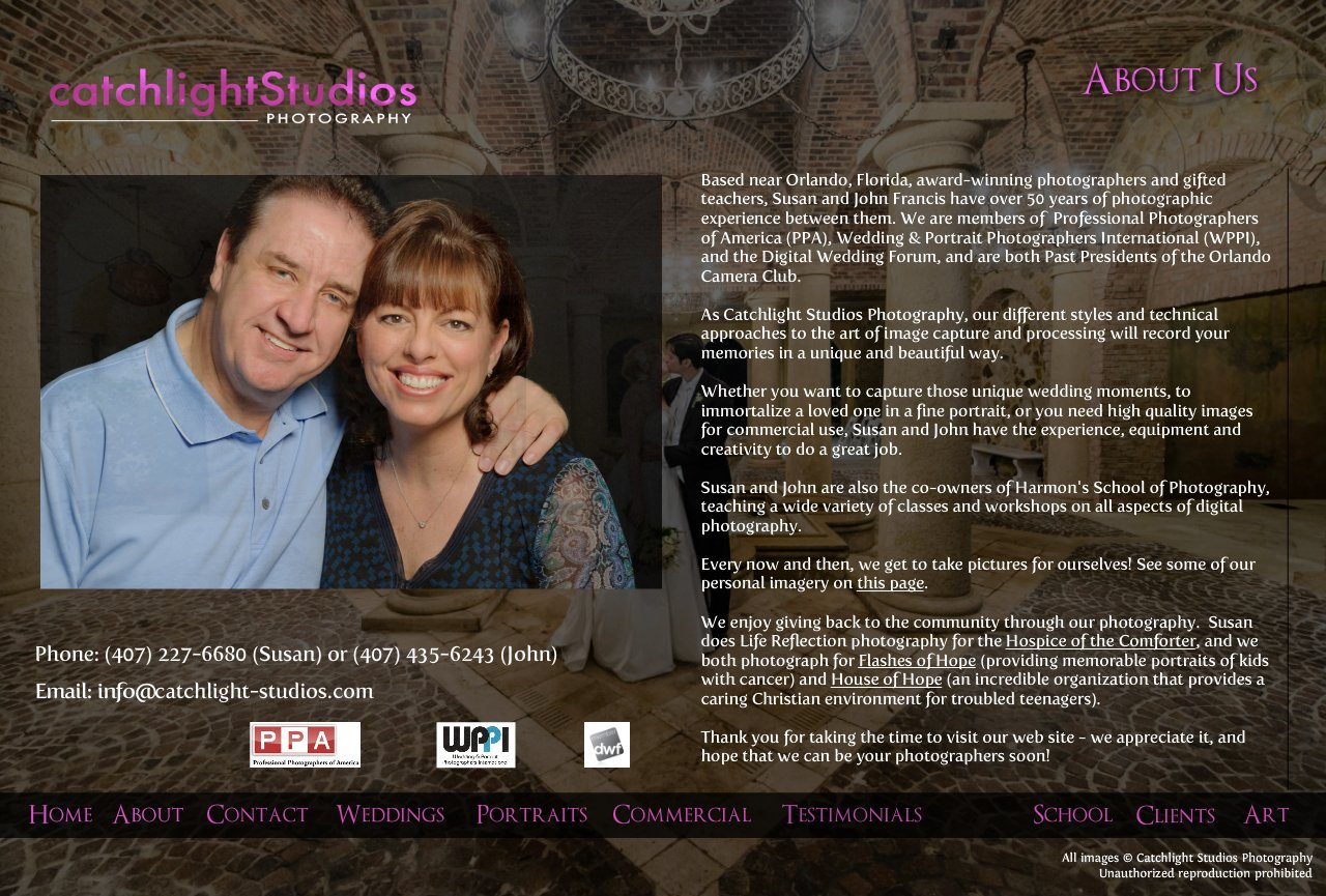 John Francis and Susan Germyn, Wedding Photographers in Orlando, Florida
