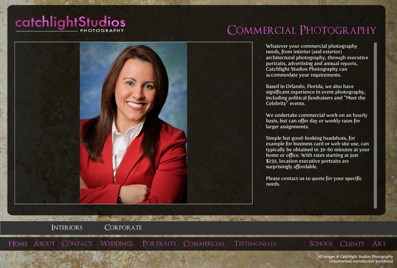 Commercial, interior, exterior and executive headshot photography in Orlando and central Florida