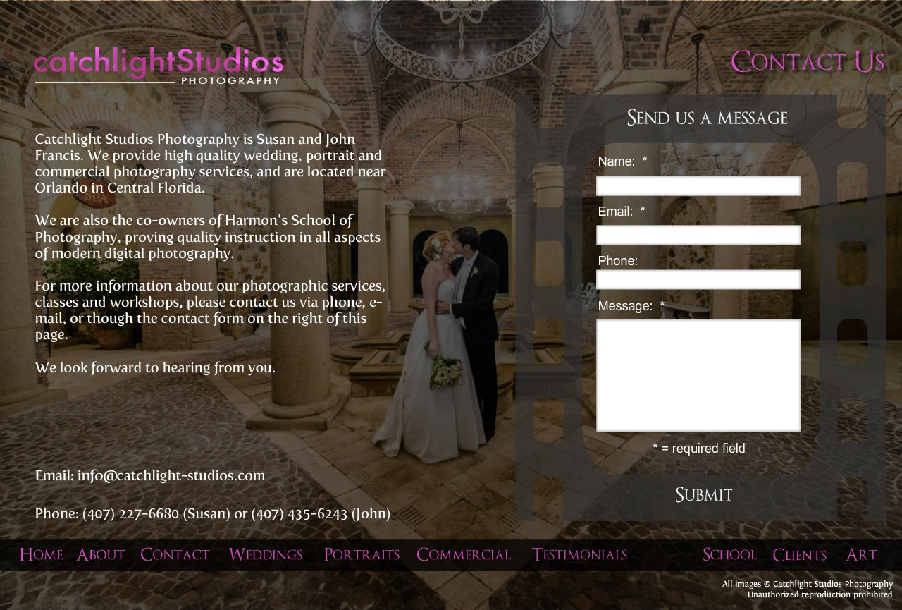 Contact Catchlight Studios, Wedding Photography in Orlando, Florida