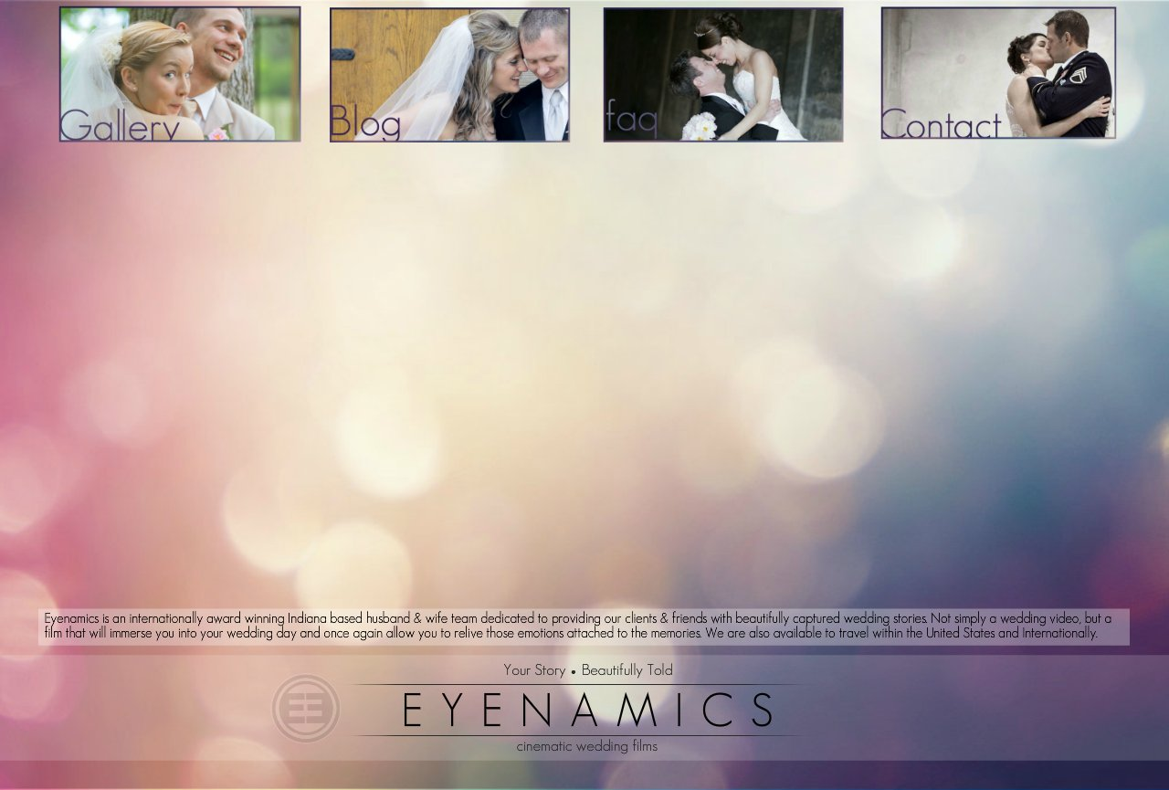 Eyenamics : Indiana based cinematic wedding videography