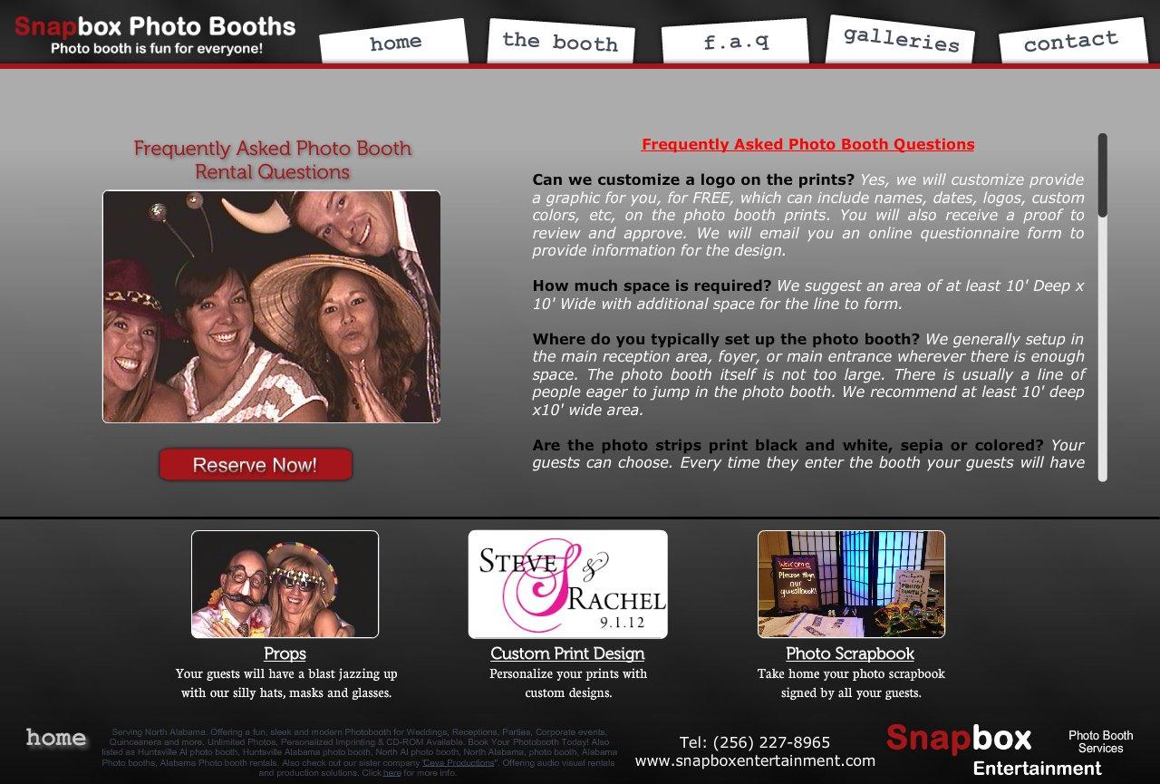 Snapbox Entertainment - Photo Booth Rentals