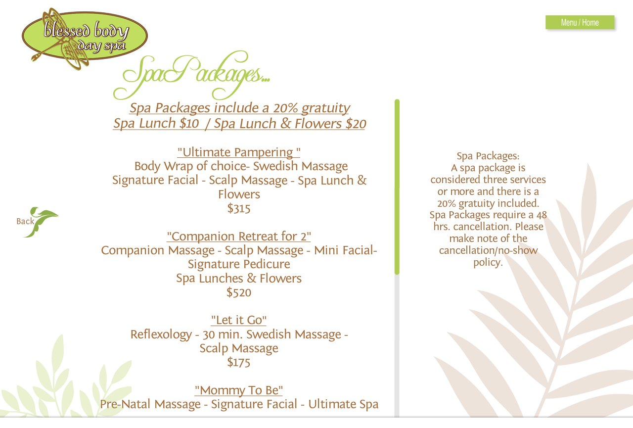 Blessed body day spa spa packages for Weekend girl getaways spa packages