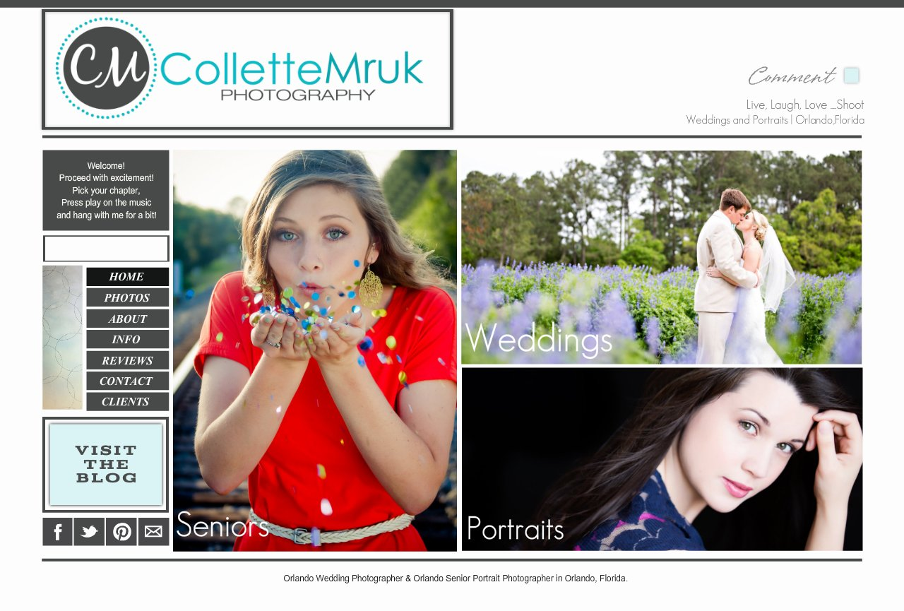 Collette Mruk Photography - Orlando Wedding Photographer - Disney Wedding Photographer- Orlando Senior Portrait Photographer- Home