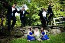Fun group wedding portrait