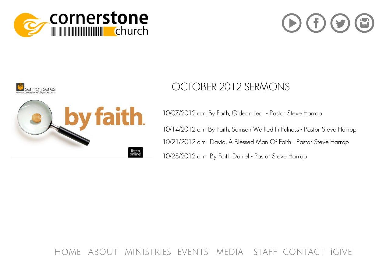 October 2012 Sermons