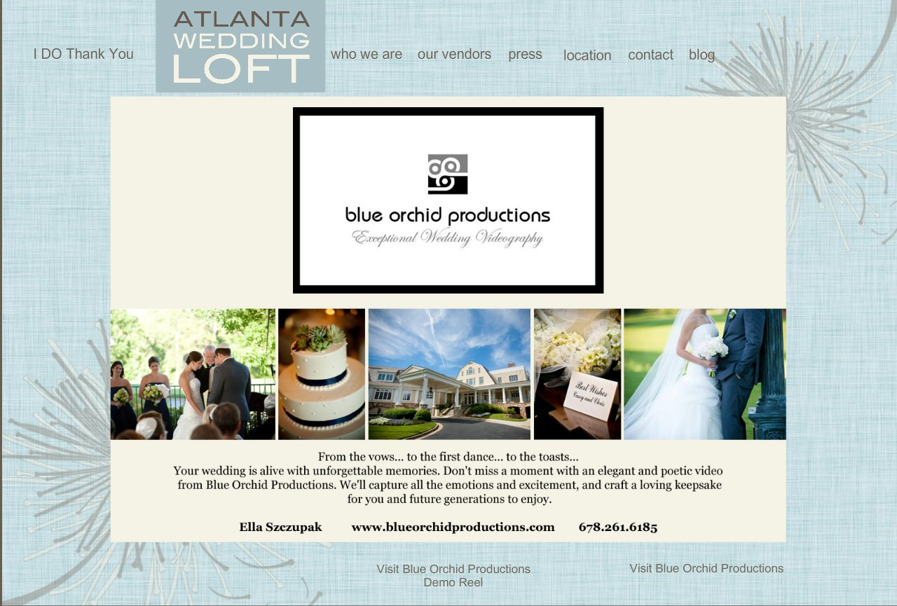 Blue Orchid Productions Wedding Videography