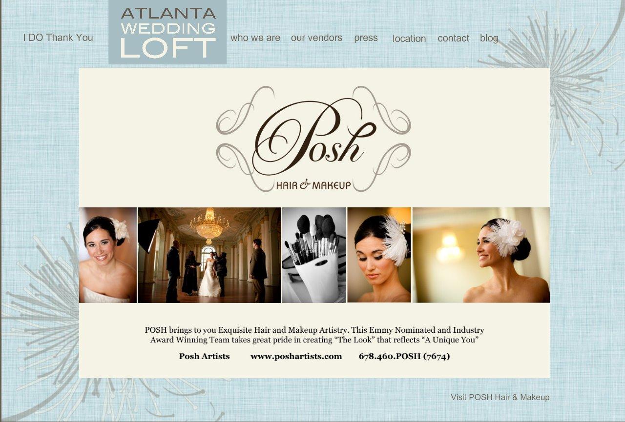 Posh Bridal Hair Makeup Atlanta Wedding Loft