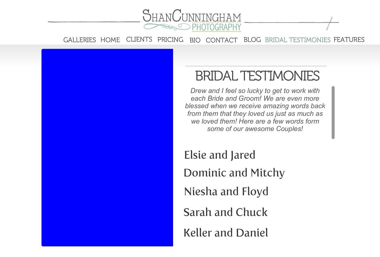 Bridal Testimonies
