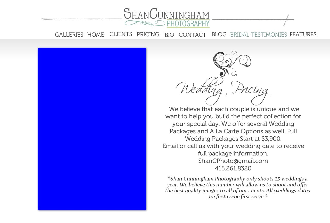 Wedding Pricing*