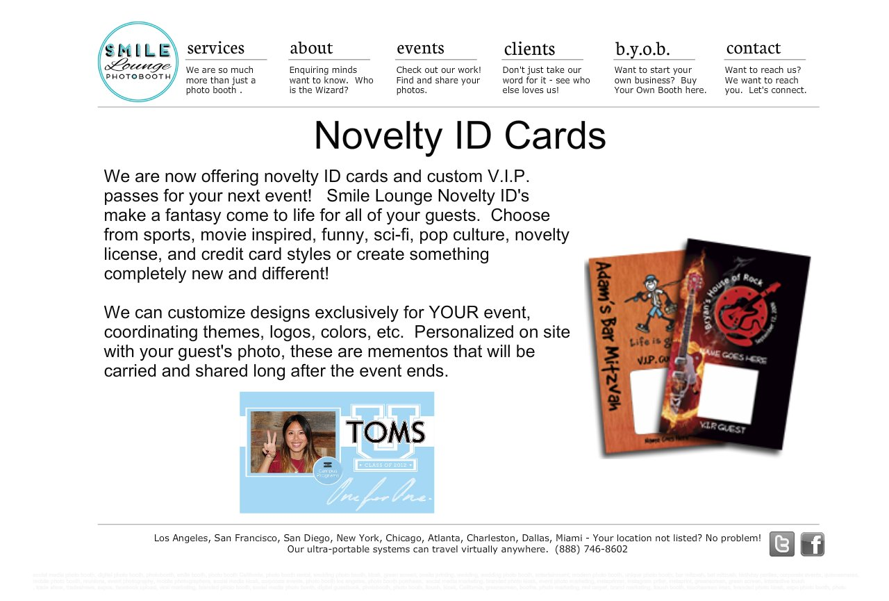 Novelty ID Cards