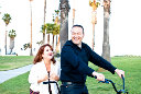Santa Barbara Engagement Photography with a tandem bicycle