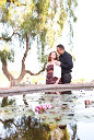 Engagement Photography at the Santa Barbara Mission Fountain