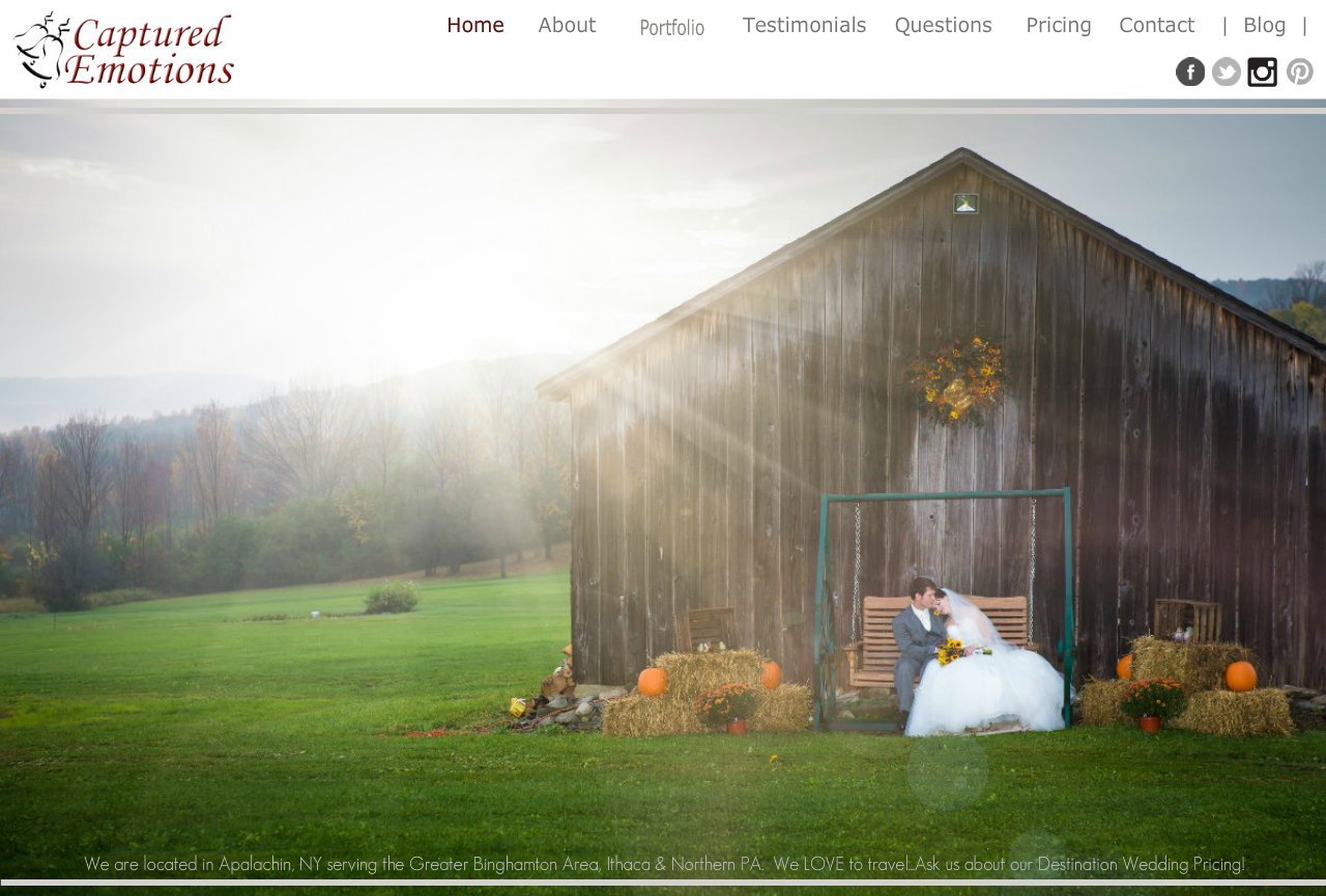 Binghamton Wedding Photographer : Captured Emotions Wedding Photography - Binghamton : Ithaca : Vestal : Owego : Endicott : Sayre : Waverly : Athens : New York : Photographer Servicing Broome, Tioga and Northern PA