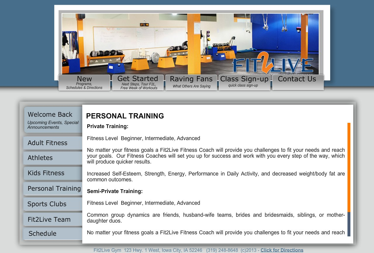 PERSONAL TRAINING MAIN