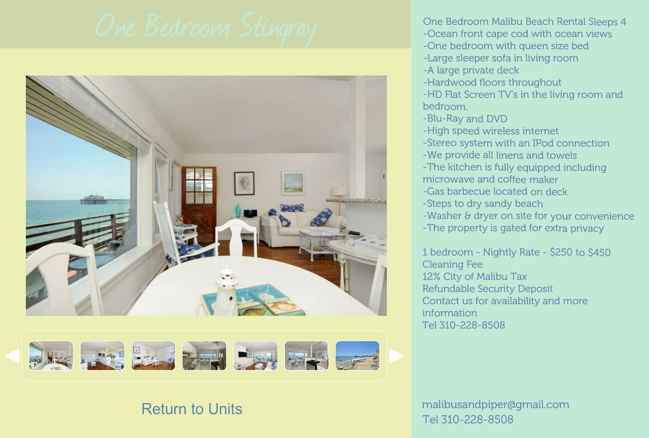 One Bedroom Malibu Beach Rental