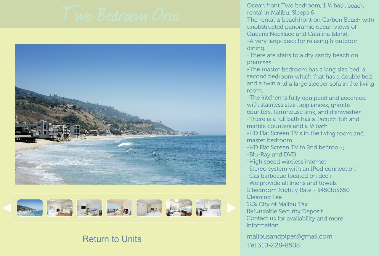 Two Bedroom Malibu Beach Rental