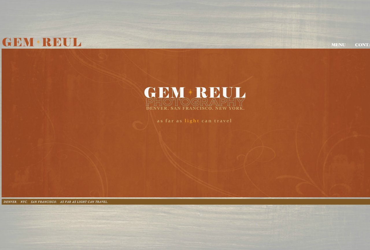 gem reul photography home page