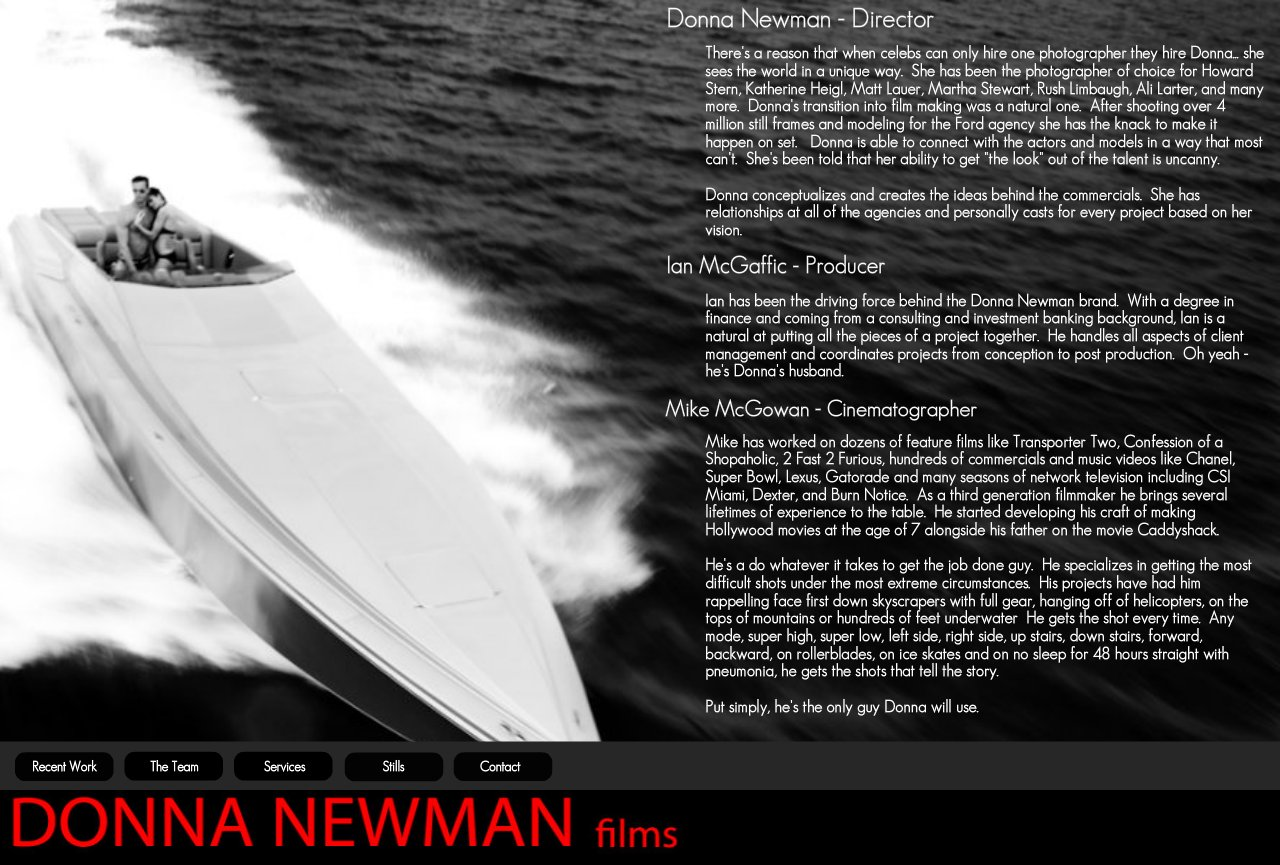 Donna Newman Commercial Film Team
