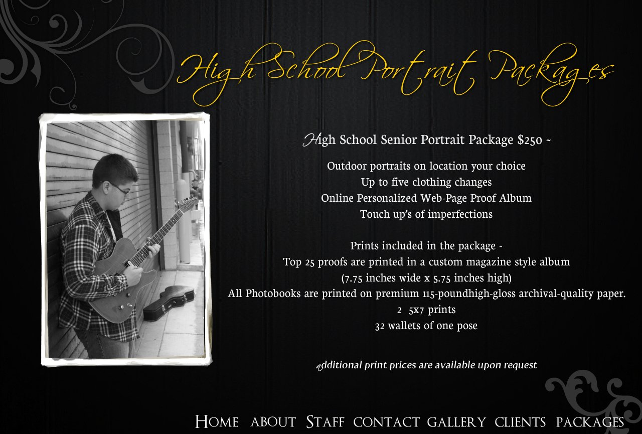 High school portrait packages high school senior portrait package