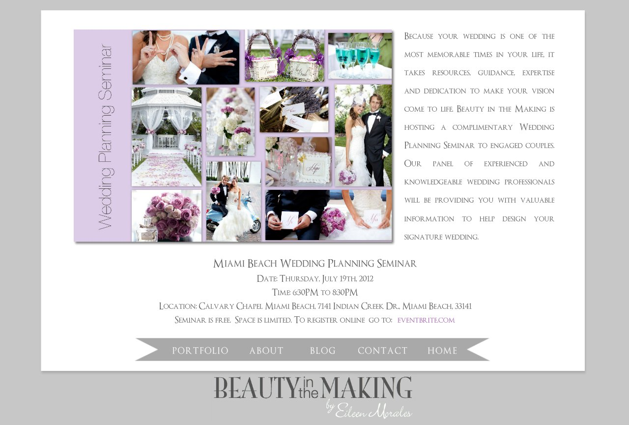 Miami Beach Wedding Planning Seminar