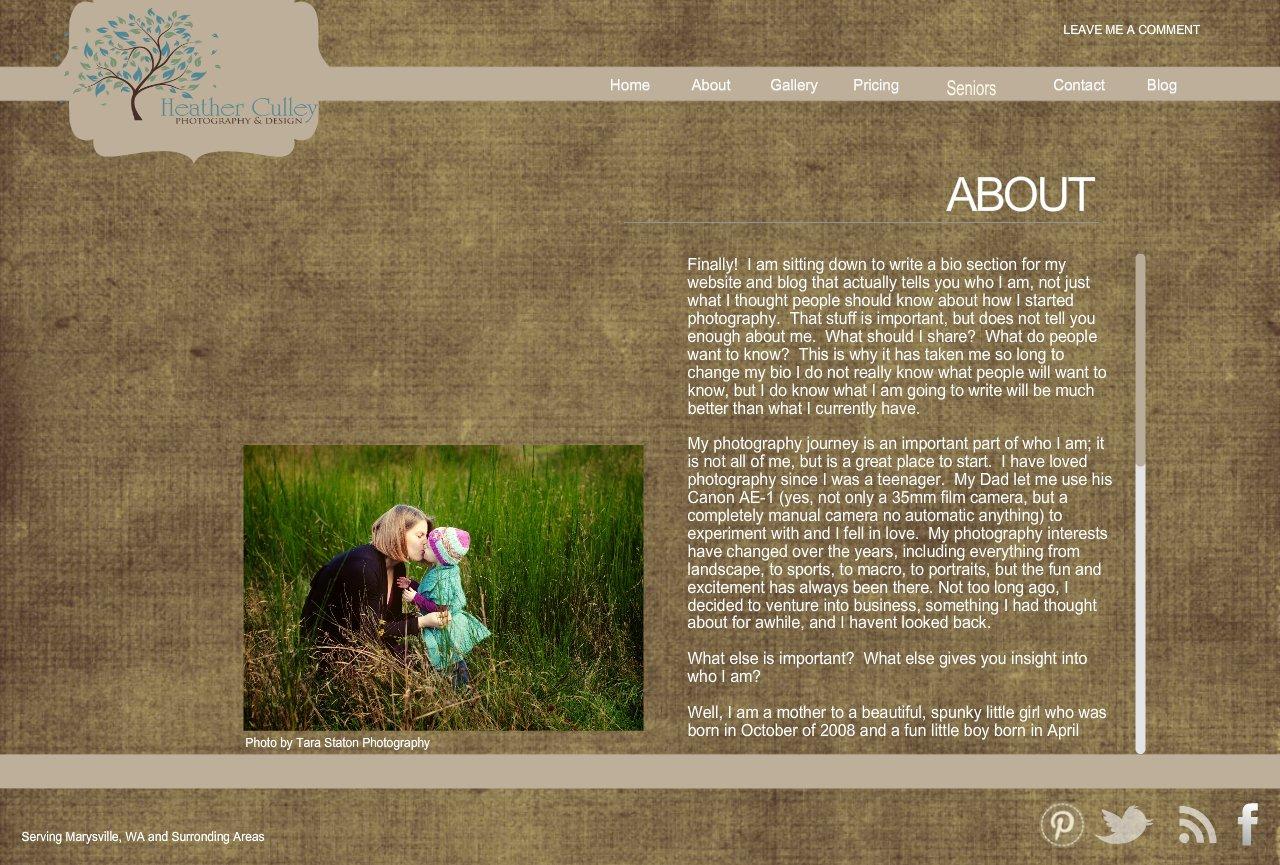 About Marysville Portrait Photographer