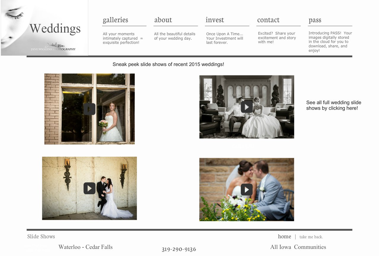Jane Wiggins Photography clients