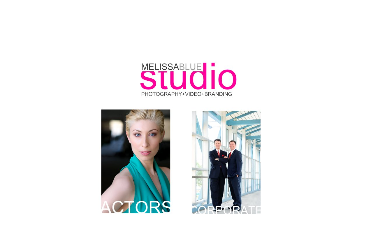 Melissa Blue Studio start page
