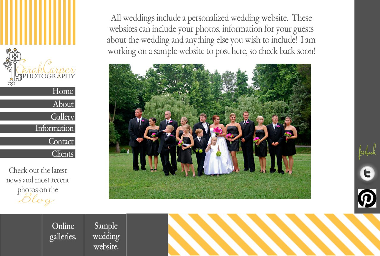 SCP Sample Wedding Website