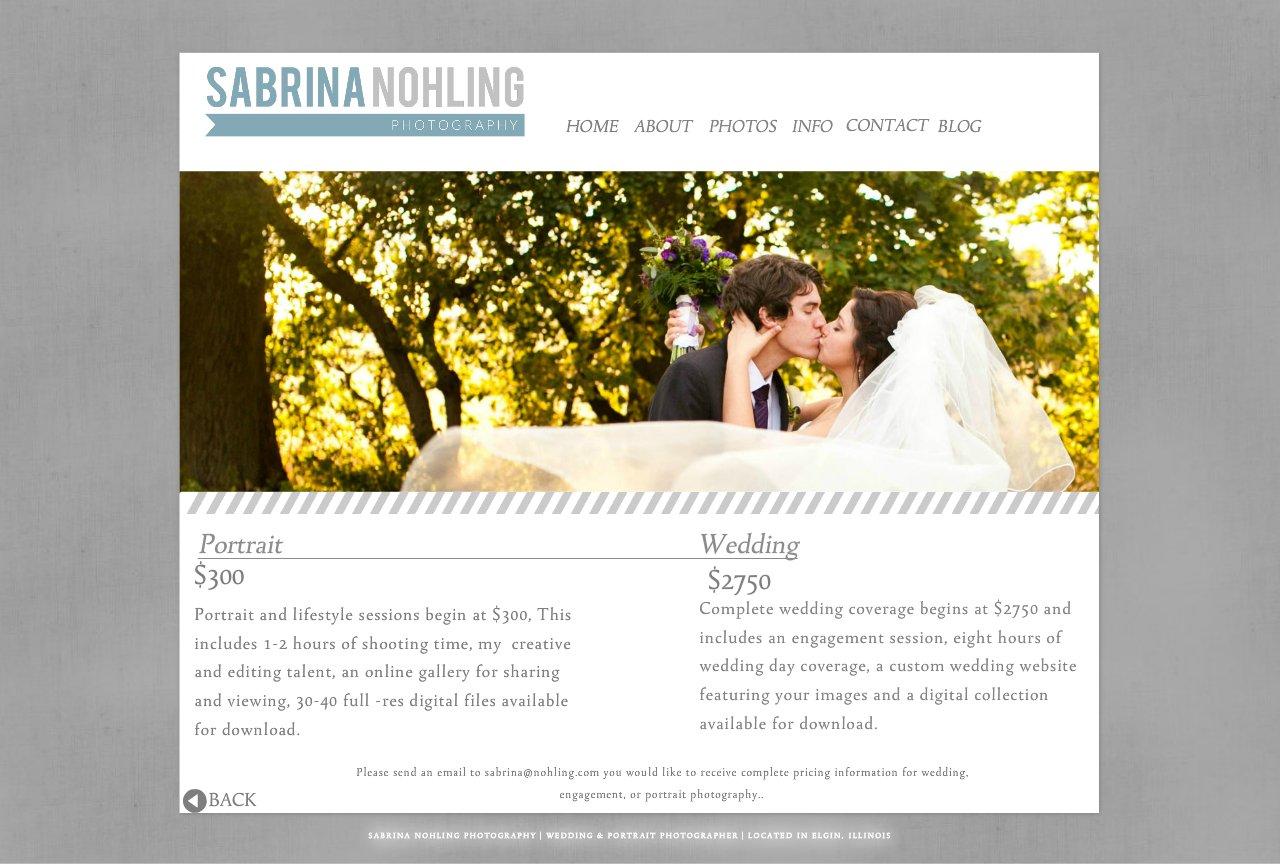 Sabrina Nohling Photography - PRICING