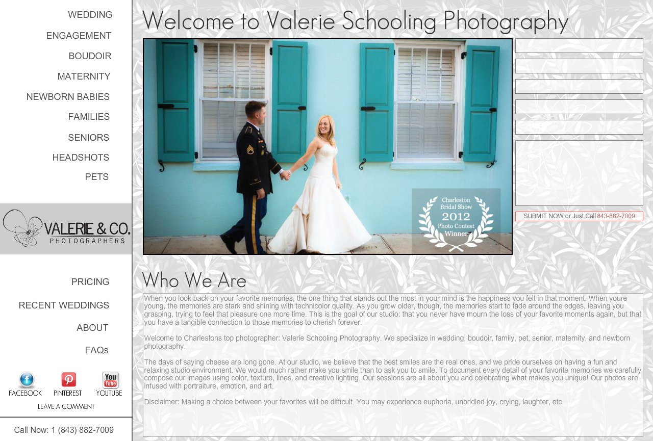 Wedding, Family, Boudoir & More at Valerie Schooling - Charleston Photographer