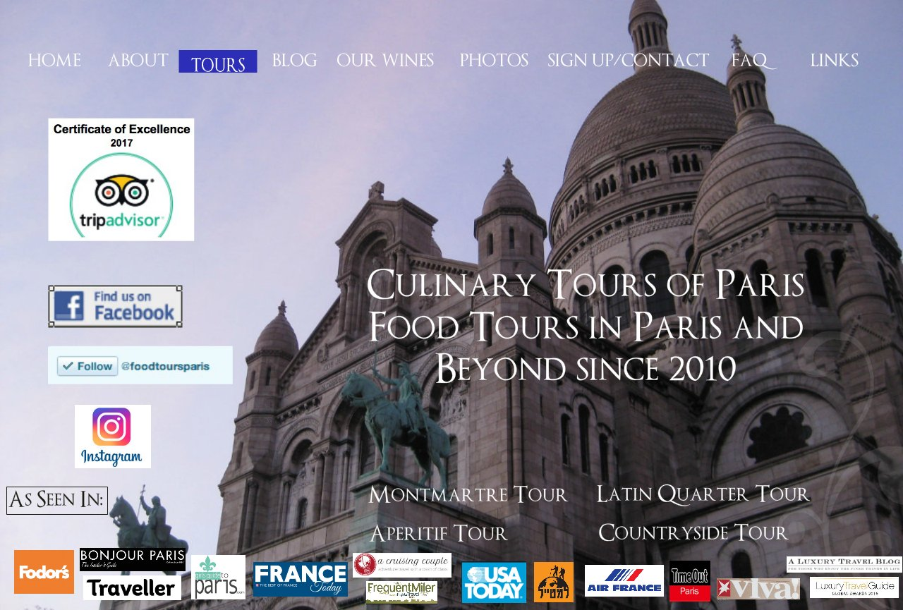 Culinary Tours of Paris