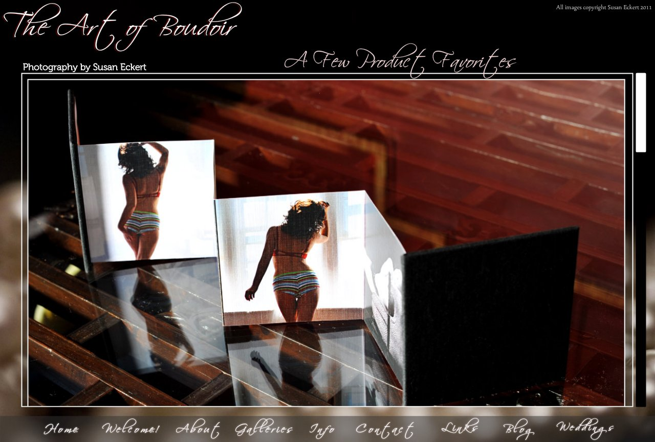 Faves - popular boudoir photography products