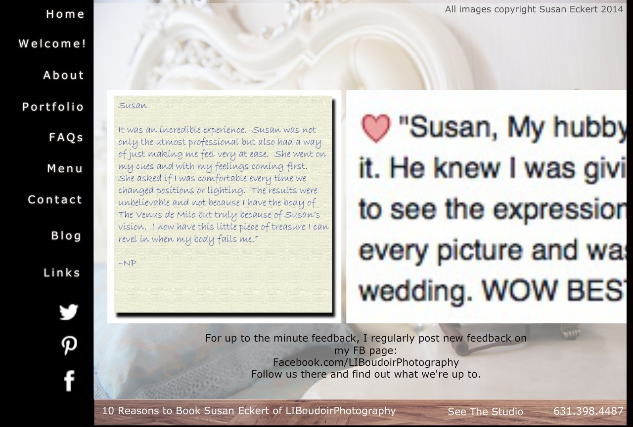 Raves ~ Boudoir Photography client feedback and testimonials