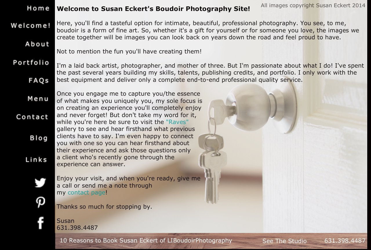 Welcome to Susan Eckert's Boudoir Photography