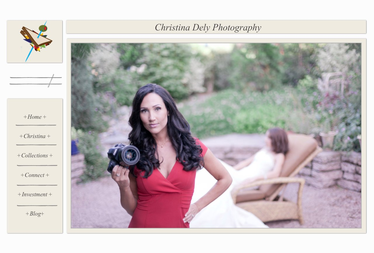 Christina Dely Photography website