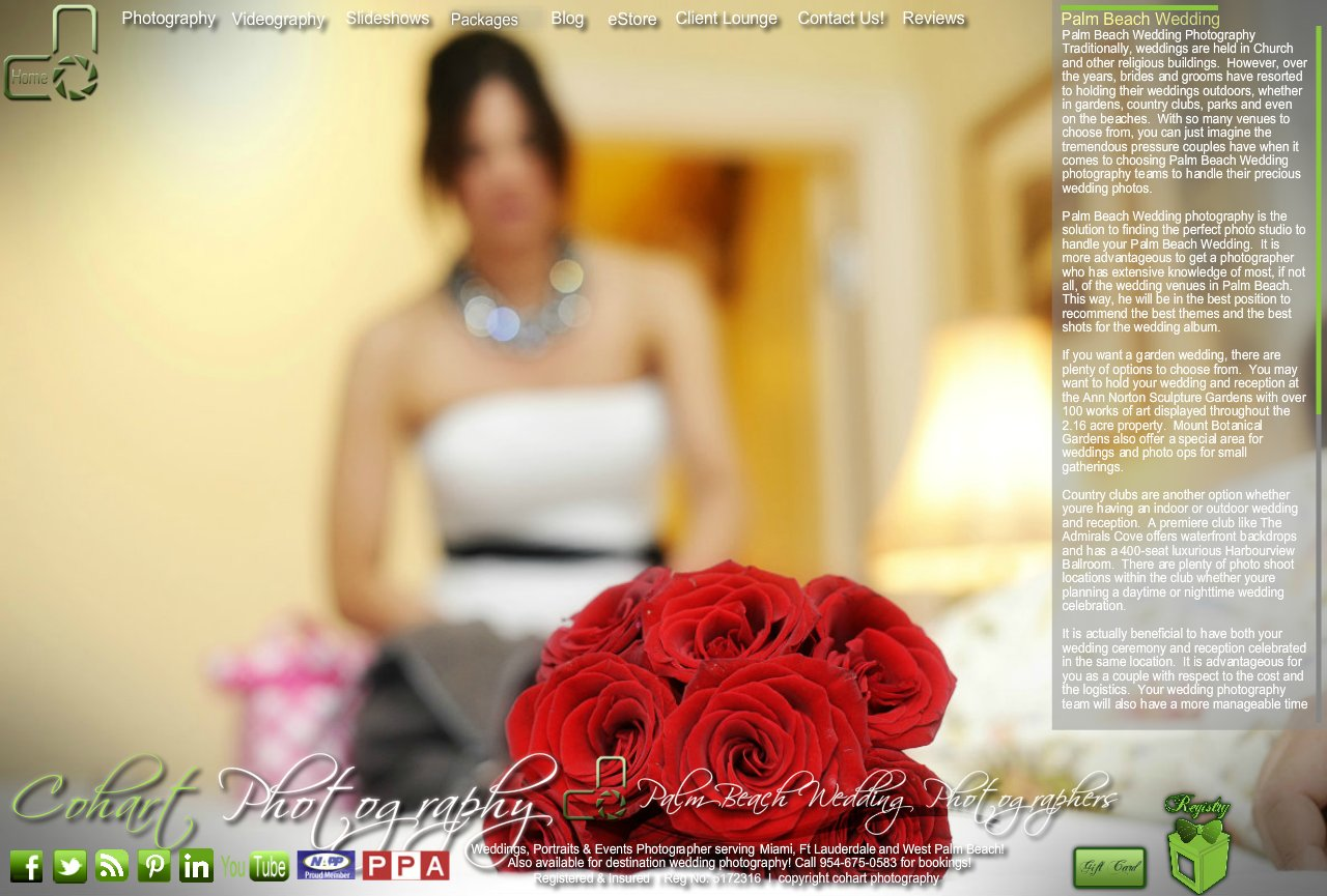 cohart photography best palm beach wedding photographers palm