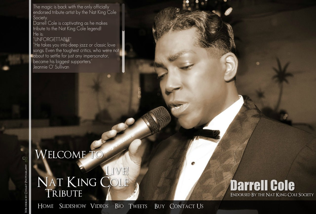 Nat King Cole Tribute Artist, Nat King Cole Live, Miami, Ft Lauderdale, West Palm Beach, Florida