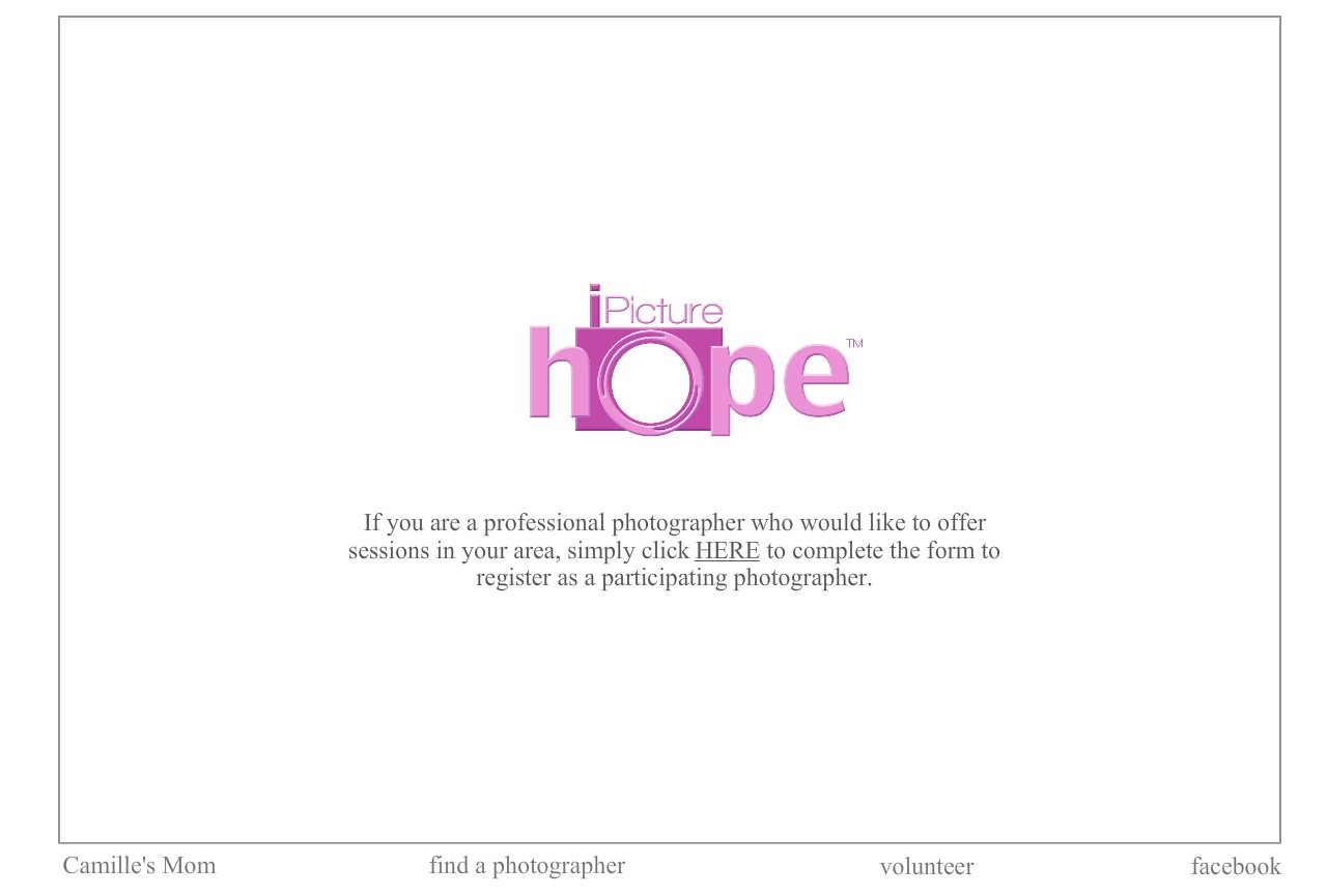 volunteer to participate in I Picture Hope