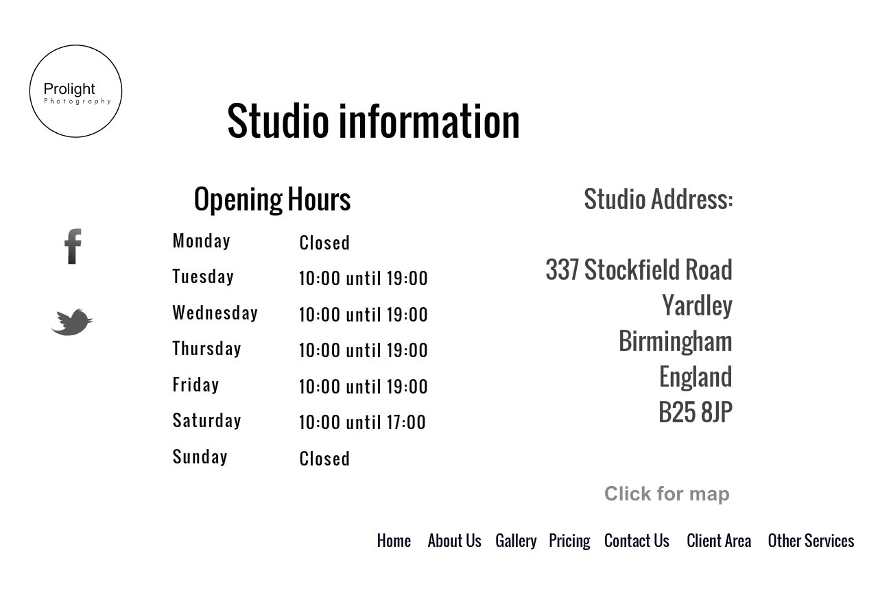 Photography studio Birmingham