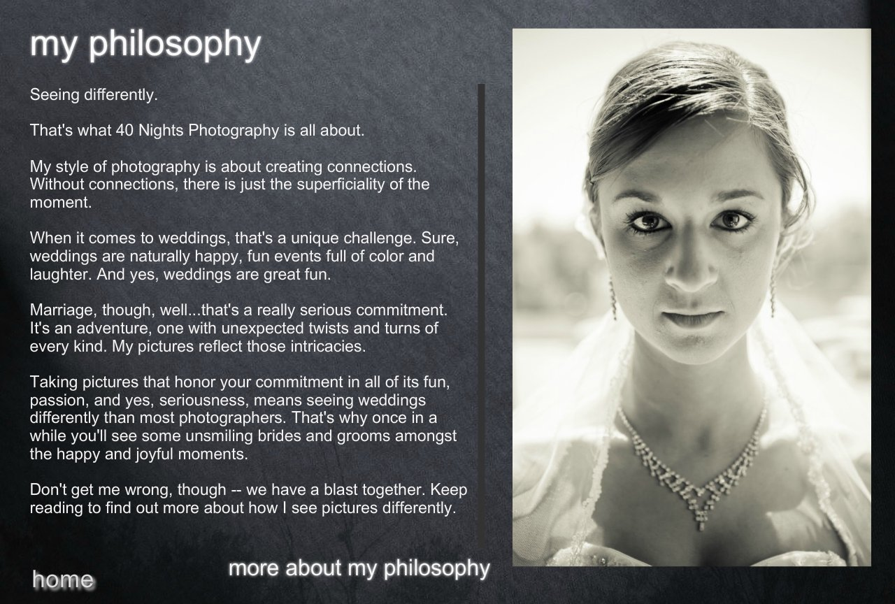 40 Nights Photography philosophy