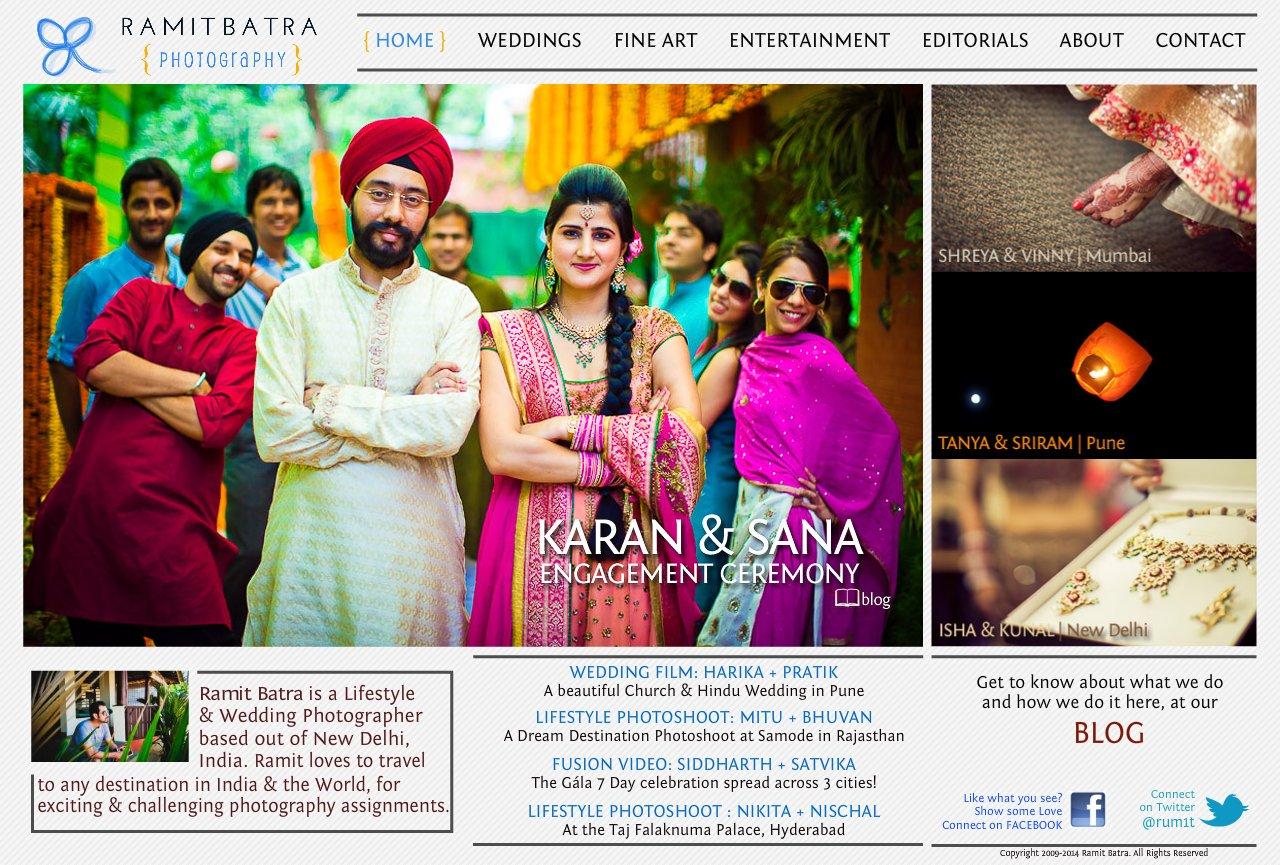 Home - Contemporary Wedding Photography in India by Ramit Batra