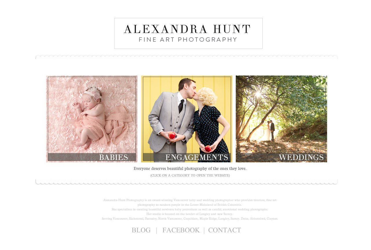 Vancouver Baby and Wedding Photographer - Alexandra Hunt