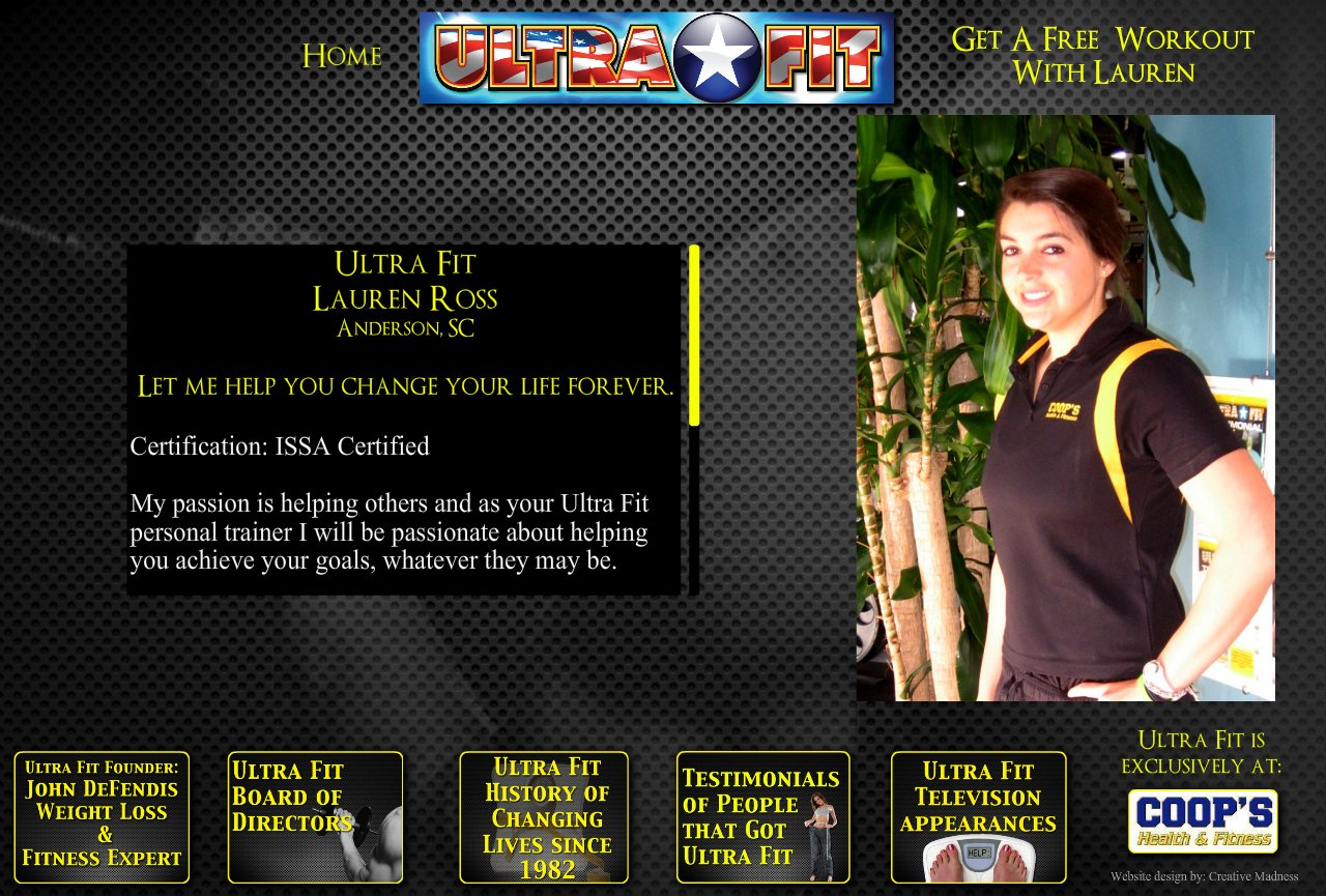 Ultra Fit Defendis Home Page
