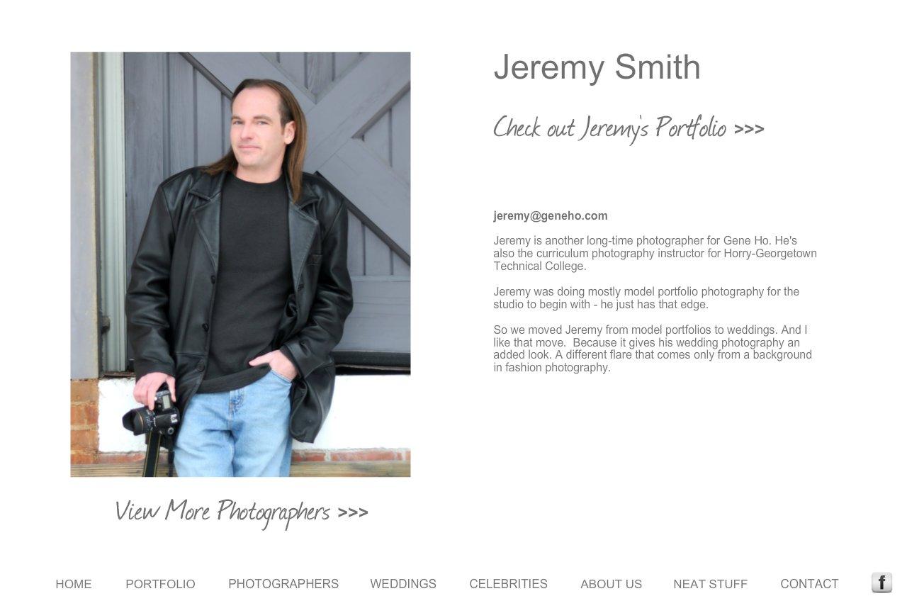 Gene Ho Photography | Wedding Photography - Bio - Jeremy Smith